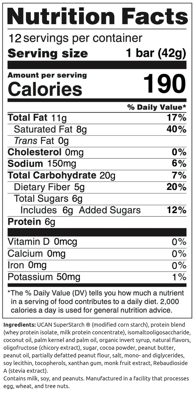 Chocolate Peanut Butter Bar Box NFP (12 count)