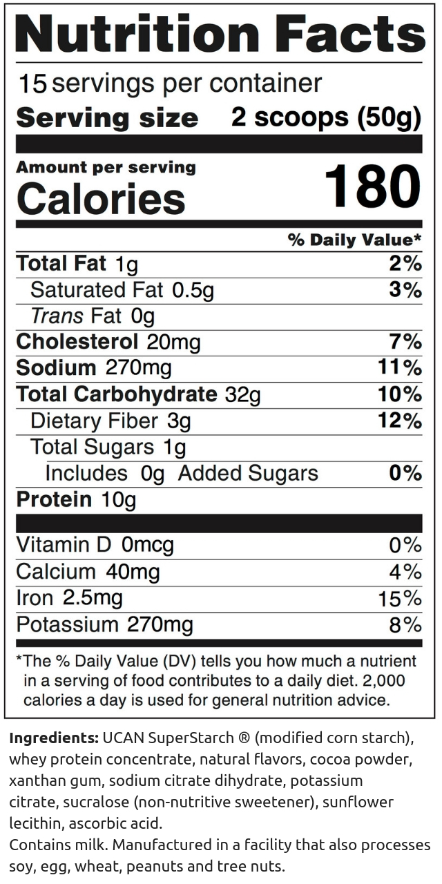 Chocolate Performance Tub NFP (750g) (1)
